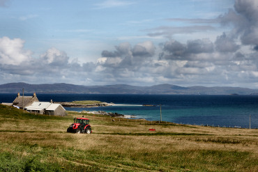 Ardionra Croft on Iona, looking North West to Ulva and Mull